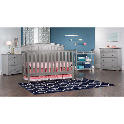 Child Craft Delaney 4-in-1 Convertible Crib - Cool Gray