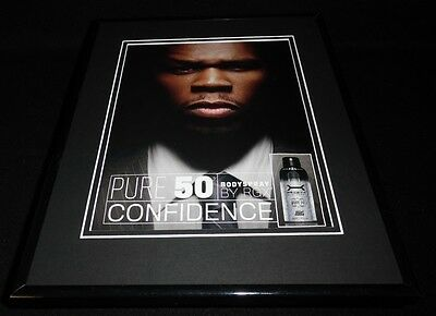 50 Cent Pure 50 Bodyspray 2008 Framed 11x14 ORIGINAL Vintage Advertisement