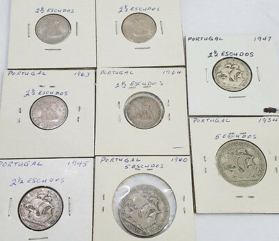 Lot Of 8 Portugal Coins 1934 -1964 - 5520