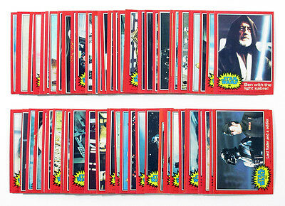 1977 Topps Star Wars 2nd Series Red Set (66) Nm/Mt