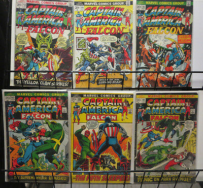 Captain America and Falcon (Marvel 1971-74) #147-167 Lot of 6Diff HYDRA Skull +