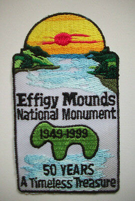 Effigy Mounds National Monument IA TRAVEL EMBROIDERED SOUVENIR PATCH
