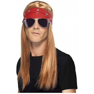 80s Rock Star Costume Accessory Kit Adult Axl Rose Halloween Fancy Dress