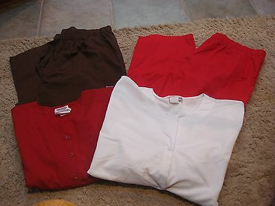 Mixed Lot of 4 Scrub Bottoms Pants and Tops Plus Size XXL
