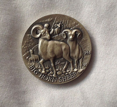Logines Sterling Silver Big Horn Sheep Coin Token