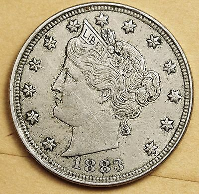 1883 Liberty Nickel.  With Cents.  Natural X.F.  108009