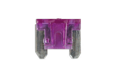 GENUINE Low Profile Mini Blade Fuse 3-amp Violet Pack 25 | Connect 30436