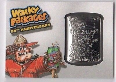 2017 Wacky Packages 50th Anniversary medallion silver parallel Canaduh Dry ERROR