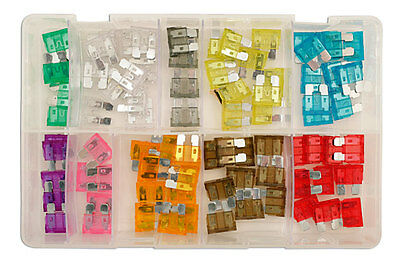 GENUINE Assorted Standard Blade Fuses Box Qty 80 | Connect 31856