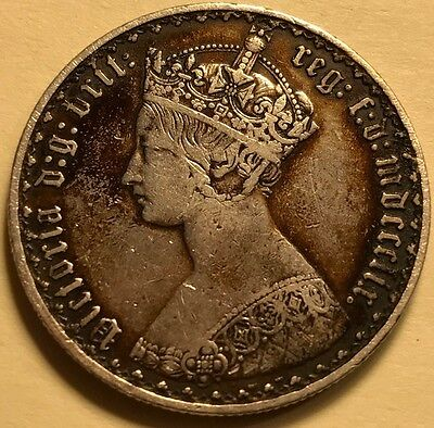 Great Britain - Queen Victoria - Gothic Florin - 1859 - Extra Fine - See Images!