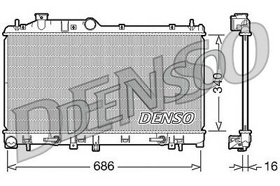 Denso Radiator DRM36008 Replaces 45111AG000 53700