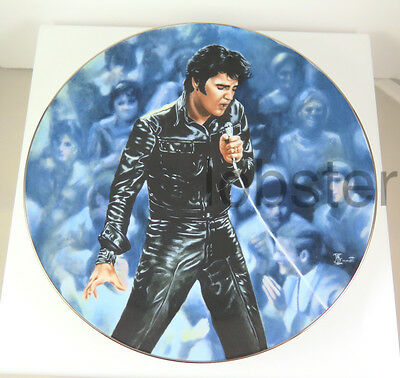 ELVIS PRESLEY COLLECTORS PLATE 68 COMEBACK SPECIAL Number 17414F First Issue