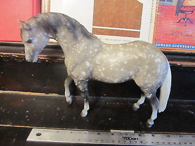 Breyer Horse gray & White with spots vintage Glossy 11 inches long