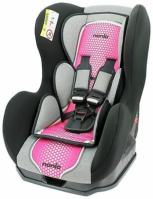 Nania Groups 0+ - 1 Cosmo First Pop Pink Booster Car Seat. From Argos on ebay
