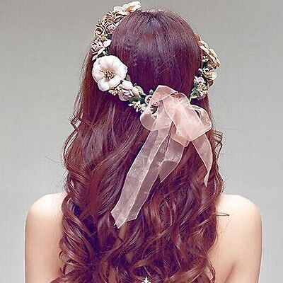 Flower Floral Hairband Headband Crown Party Bride Wedding Hair Wreaths