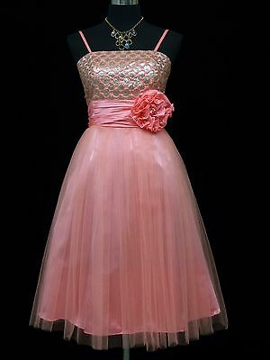 Cherlone Red Prom Ball Evening Bridesmaid Knee Length Formal Dress 14-16