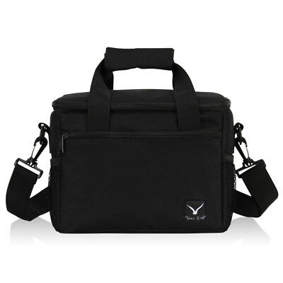 Black/Gray Picnic Bag Insulated Thermal Lunch Box Cooler Storage Tote