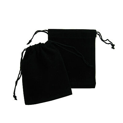 New Black Velvet Drawstring Square Jewellery Packaging Pouches Gift Bags 5 x 7cm