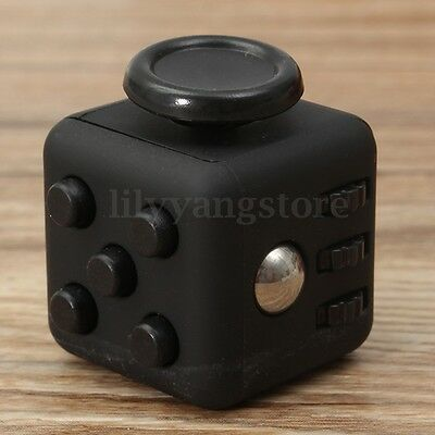 Black Magic Fidget Anxiety Stress Relief Focus 6-side Cube Gift For Adults&Child