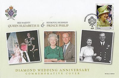 (95482) Niue FDC Queen Elizabeth II Diamond Wedding 2007