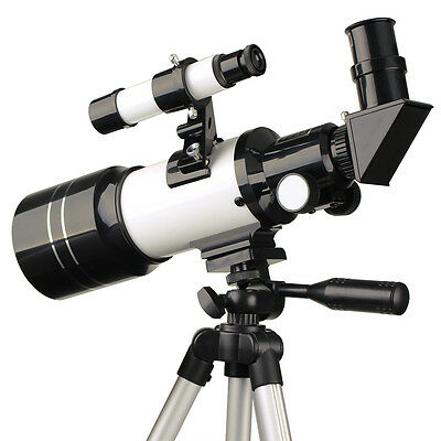 New 70mm Refractive Terrestrial Astronomical Telescope 300mm+Tripod For Kid US