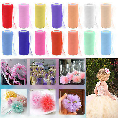 22m x 15cm Tulle Organza Roll Spool Sheer Gauze Element Party Wedding Decoration