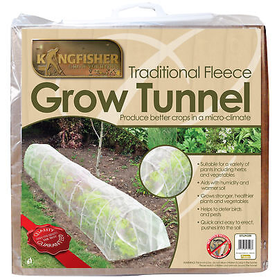 3m Fleece Grow Tunnel - for Stronger Healthier Plants Garden Row Cover Protects