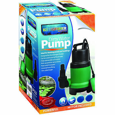 250W Energy Saving Compact Submersible Dirty Clean Water Pond Flood Pump Eco 10m
