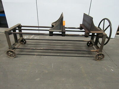 HANDY MFG 8' Vintage Antique Industrial Cast Iron Rolling Drawer Clamp Pre 1920