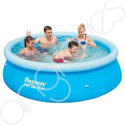 8 Ft Bestway Fast Quick Up Set Swimming Paddling Pool Garden Outdoor Tub