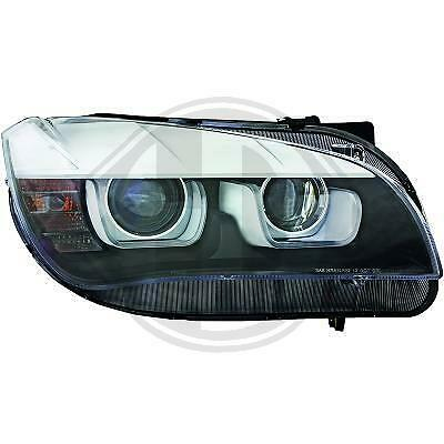 COPPIA FARI FANALI ANTERIORI TUNING ANGEL EYES LED 3D BMW X1 E84 09-12 NERI xeno
