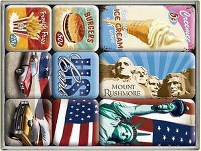 Magnet Set United States of America Mix,9 pc Box,New
