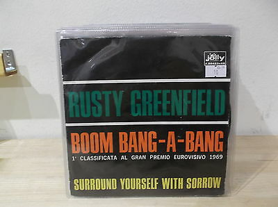 "RUSTY GREENFIELD ‎Boom bang-a-bang/Surround yourself with sorrow 7"" EX-/M=  ITA"