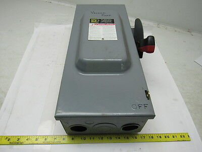 Square D H363 Heavy Duty Fusible Safety Disconnect Switch 100 Amp 600 Volt