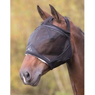 SHIRES FINE MESH EARLESS FLY MASK 6661 horse fly sun protection touch close