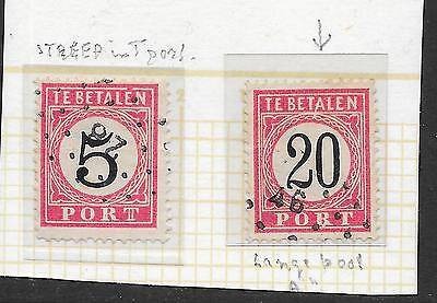 Netherlands Indies stamps 1882 NVPH P6AI+P9AI  Plate ERRORS  CANC  VF
