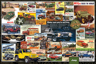 CLASSIC CADILLAC HISTORY Luxury Car Automotive Advertising Collage Wall POSTER
