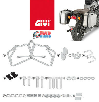 Triumph Bonneville T120 2016 > onwards Givi Monokey Pannier Rack Fitting Rails