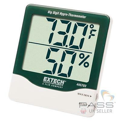 NEW Extech 445703 Big Digit Humidity & Temperature Indicator, Celsius/Fahrenheit