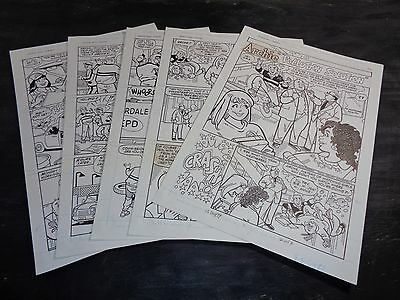 Original Art Story (Archie 443) 5 Pgs COMPLETE! S. GOLDBERG; 1996 (ART#0306)
