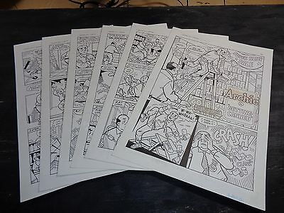 Original Art Story (Archie 443) 6 Pgs COMPLETE! S. GOLDBERG; 1996 (ART#0307)