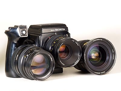 Zenza Bronica Gs1 Gs-1 Set + Pg100 + Pg150 + Pg50 Finder And 120 220 Film Back