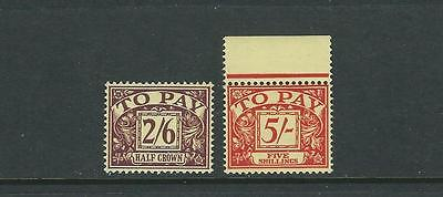 Great Britain 1955-57 Postage Dues (Sg D54-55) Vf/xf Mnh