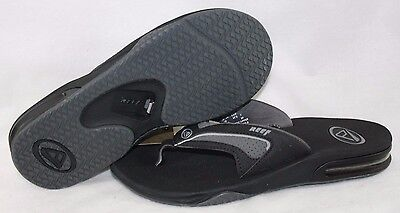 NEW Mens REEF Stealth Black Grey Waterproof Slip One Flip Flops Sandals