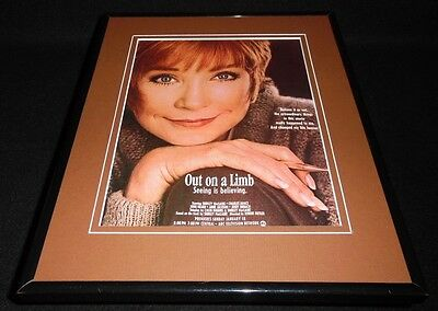 Out on a Limb 1987 Framed 11x14 ORIGINAL Vintage Advertisement Shirley Maclaine