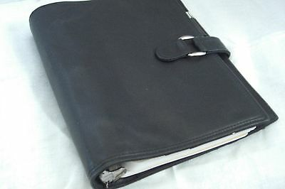 Black Leather Kenneth Cole 3- ring Planner including inserts