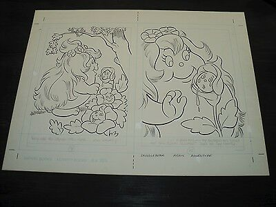Snugglebumm Coloring Book Original Artwork RARE! Stan Goldberg! ART#0559
