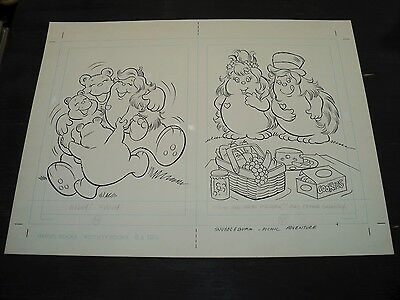 Snugglebumm Coloring Book Original Artwork RARE! Stan Goldberg! ART#0570