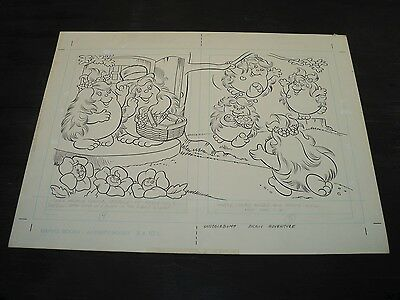 Snugglebumm Coloring Book Original Artwork RARE! Stan Goldberg! ART#0554