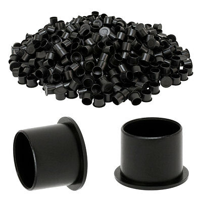 500 pcs #17 TopHat No Spill Tattoo Ink Caps Black Base 17mm Cup